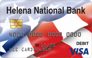 picture of the visa card provided by helena bank